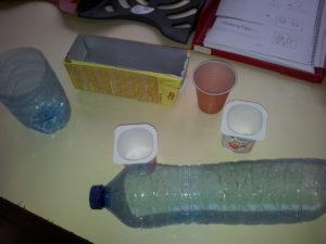 Ejemplo de envases a reutilizar
