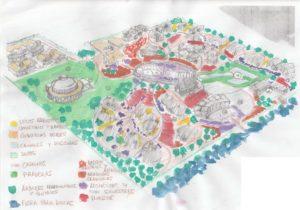 Propuesta preliminar para los jardines de un hotel